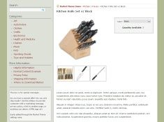 Screenshot of Product Catalog page