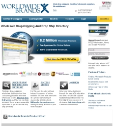 Worldwide Brands Drop Ship Directory website
